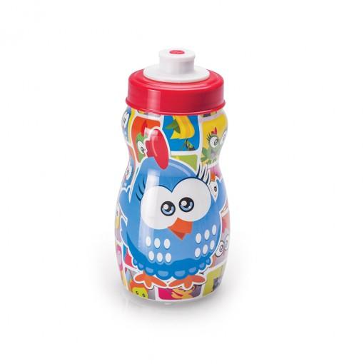 Garrafa Squeeze de Plástico 300 ml com Tampa Rosca Galinha Pintadinha