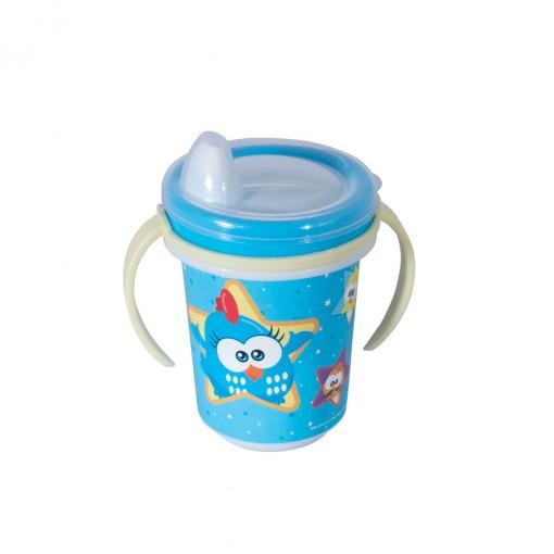 Caneca de Plástico 330 ml para Transição com Alça Removível e Fechamento Rosca  Galinha Pintadinha