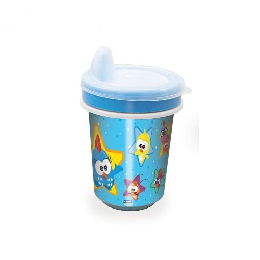 Copo de Plástico 330 ml para Transição com Fechamento Rosca Galinha Pintadinha