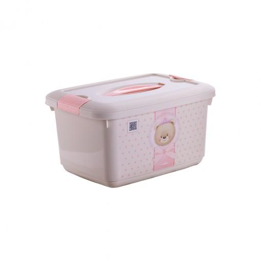 Caixa de Plástico 5,2 L com Alça e Trava Ursa