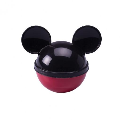 Pote de Plástico com Tampa em Formato de Orelha Mickey