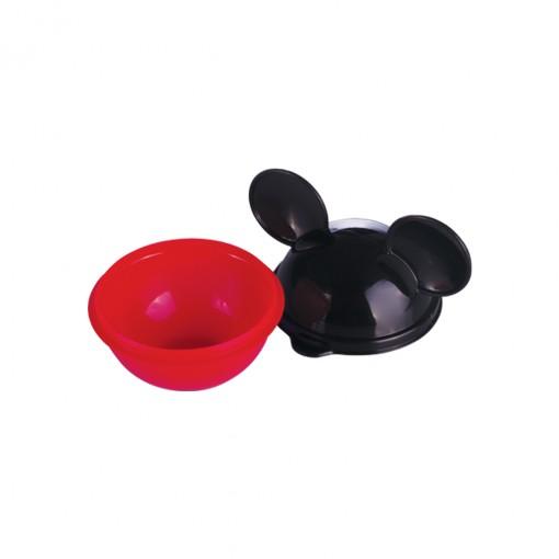 Conjunto de Potes de Plástico com Tampa em Formato de Orelha Mickey 6 Unidades