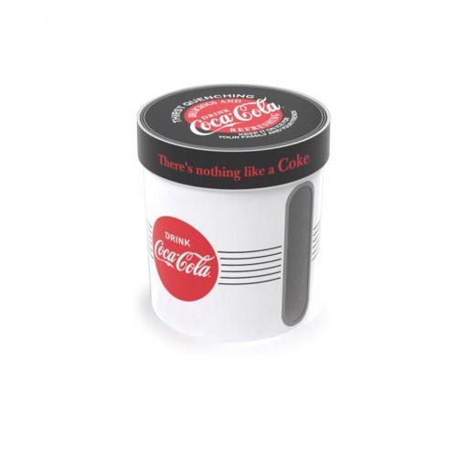 Caixa de Plástico Redonda 1,8 L com Tampa Encaixável Coca Cola