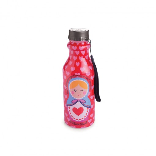 Garrafa de Plástico 500 ml com Tampa Rosca Retrô Matrioska