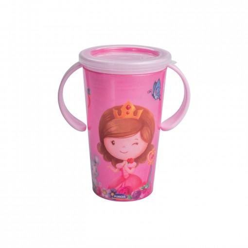 Copo de Plástico 280 ml para Transição com Alça  Baby Princess Magic