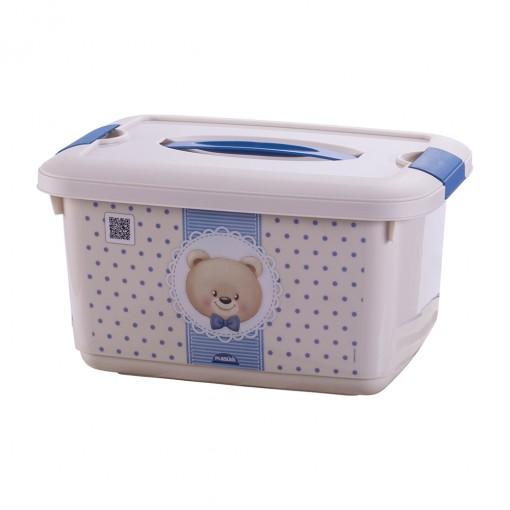 Caixa de Plástico 5,2 L com Alça e Trava Urso