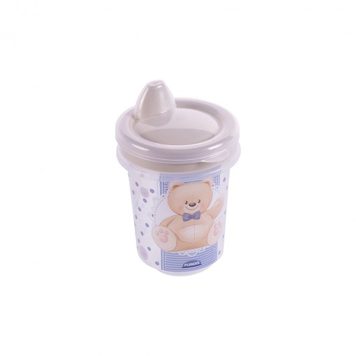 Copo de Plástico 330 ml para Transição com Fechamento Rosca Urso