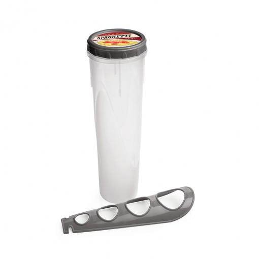 Pote de Plástico Redondo para Espaguete com Medidor Retrô