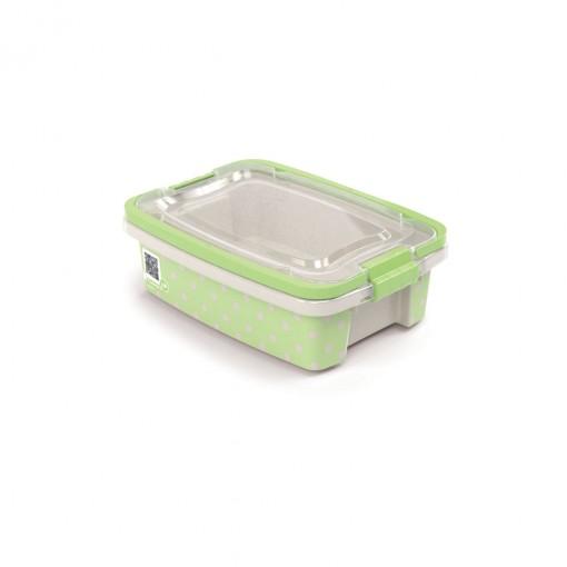 Caixa de Plástico Retangular Organizadora 1,5 L com Tampa, Travas Laterais e Alça Gran Box Poá