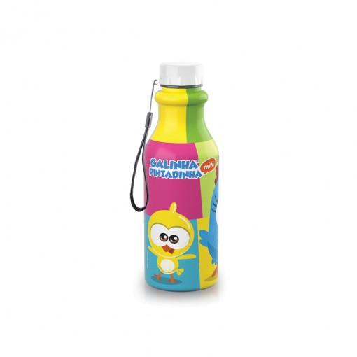 Garrafa de Plástico 500 ml com Tampa Rosca Retrô Galinha Pintadinha