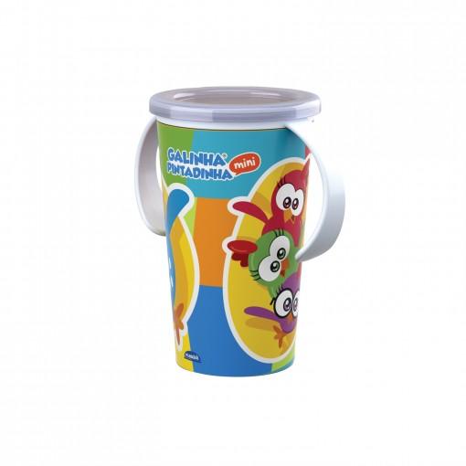 Copo de Plástico com Alça 280 ml Galinha Pintadinha Magic