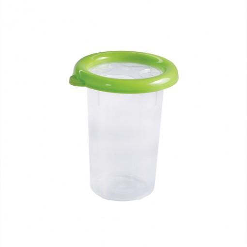 Pote de Plástico Redondo 580 ml com Tampa Emborrachada Conservamax