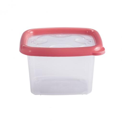 Pote de Plástico Retangular 650 ml com Tampa Emborrachada Conservamax
