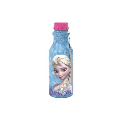 Garrafa de Plástico 500 ml com Tampa Rosca Retrô Frozen Elsa
