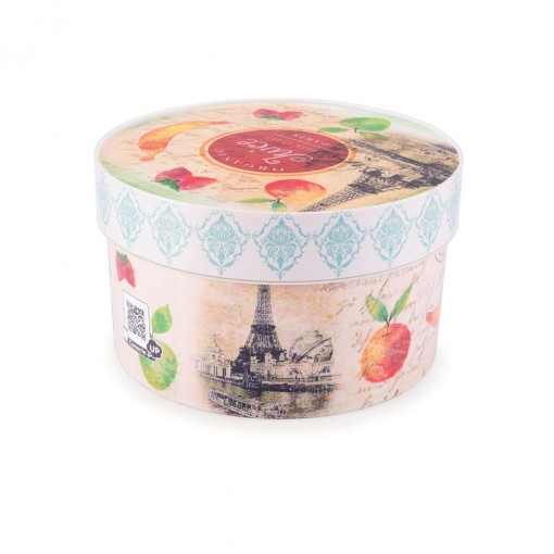 Caixa de Plástico Redonda Organizadora 1,5 L com Tampa Encaixável Cozinha Retrô