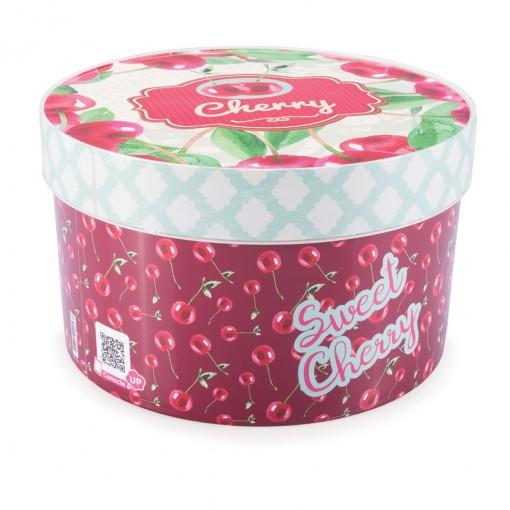 Caixa de Plástico Redonda Organizadora 2,7 L com Tampa Encaixável Cozinha Retrô