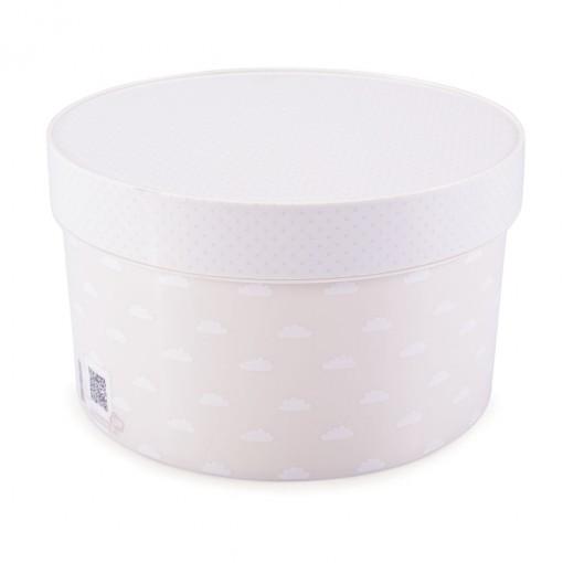 Caixa de Plástico Redonda 2,7 L com Tampa Encaixável Neutra