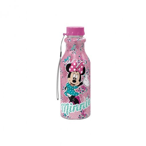 Garrafa de Plástico 500 ml com Tampa Rosca Retrô Minnie