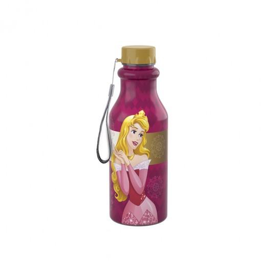 Garrafa de Plástico 500 ml com Tampa Rosca Retrô Princesas Bela Adormecida