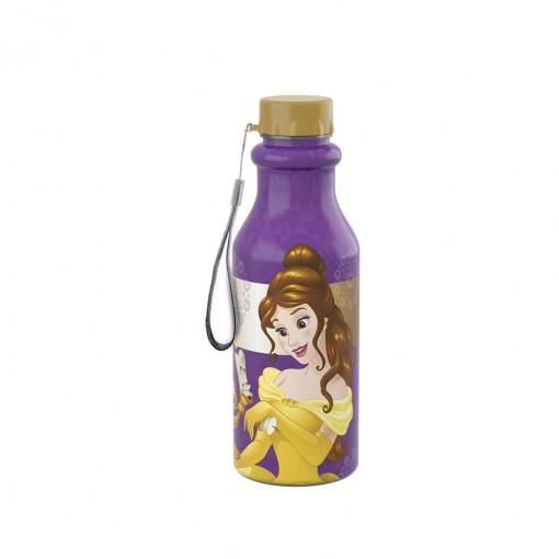 Garrafa de Plástico 500 ml com Tampa Rosca Retrô Princesas Colecionáveis Bela