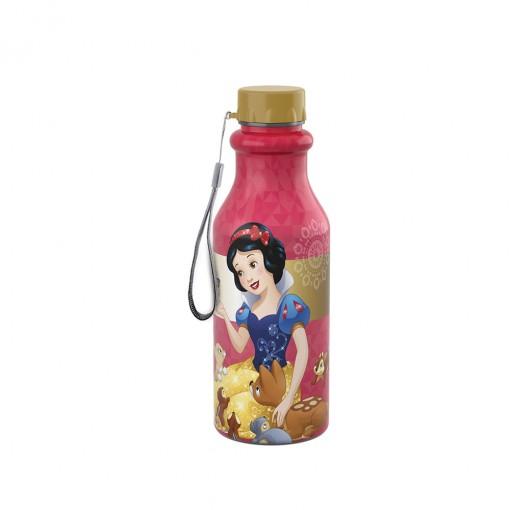 Garrafa de Plástico 500 ml com Tampa Rosca Retrô Princesas Branca de Neve