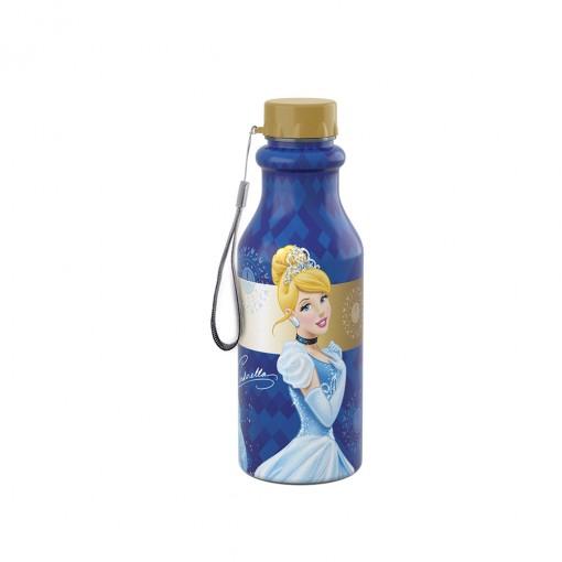 Garrafa de Plástico 500 ml com Tampa Rosca Retrô Princesas Cinderela