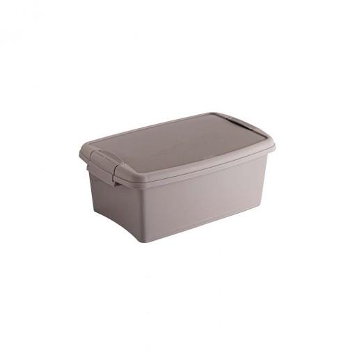 Caixa de Plástico Retangular Organizadora 4,2 L com Tampa, Travas Laterais Gran Box - Fendi