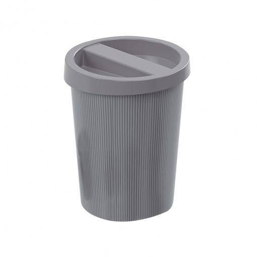 Lixeira de Plástico 5,5 L com Tampa Mármore Preto