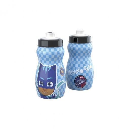 Garrafa Squeeze de Plástico 300 ml com Tampa Rosca Pj Masks Menino Gato