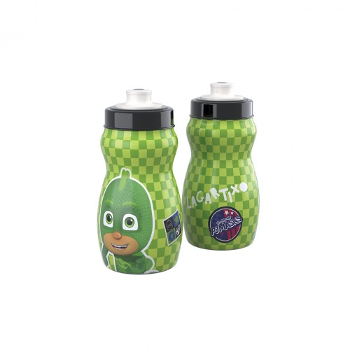 Garrafa Squeeze de Plástico 300 ml com Tampa Rosca Pj Masks Lagartixo