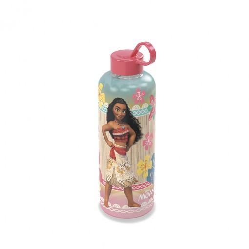 Garrafa de Plástico 480 ml com Tampa Rosca e Pegador Fixo Cilíndrica Moana