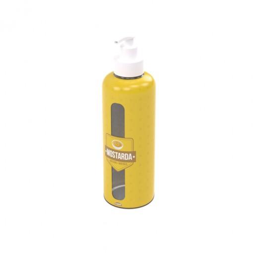 Garrafa de Plástico 480 ml com Bomba Mostarda