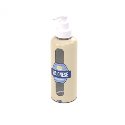 Garrafa de Plástico 480 ml com Bomba Maionese