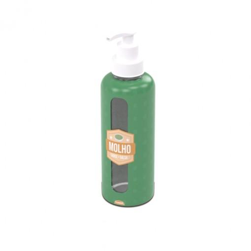 Garrafa de Plástico 480 ml com Bomba Molho