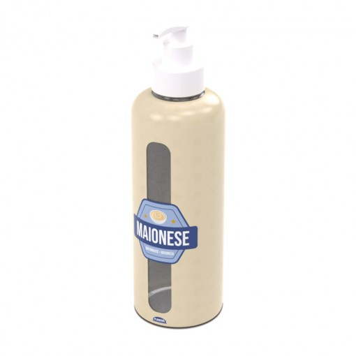 Garrafa de Plástico 970 ml com Bomba Maionese