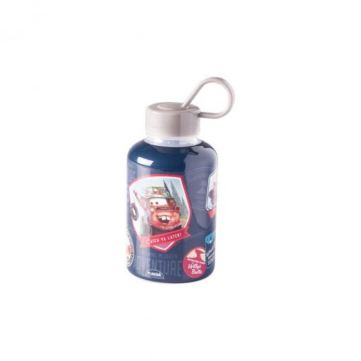 Garrafa de Plástico 280 ml com Tampa Rosca e Pegador Fixo Cilíndrica Carros