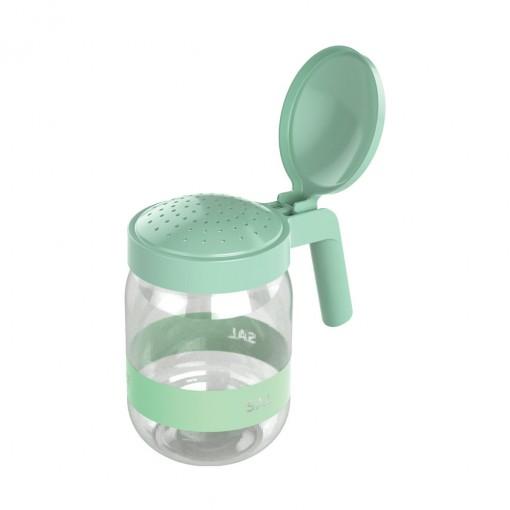 Saleiro de Plástico com Alça 450 ml Verde