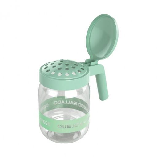 Porta Queijo Ralado de Plástico com Alça 450 ml Verde