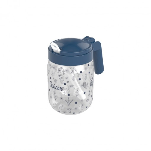 Açucareiro de Plástico com Alça e Colher 450 ml Fazenda Azul