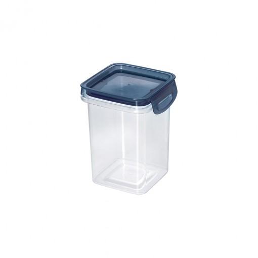 Porta Mantimentos Quadrado Trava Mais Cristal 830 ml Azul