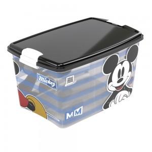 Imagem do produto - Caixa de Plástico Retangular Organizadora 46 L com Tampa e Travas Laterais Mickey