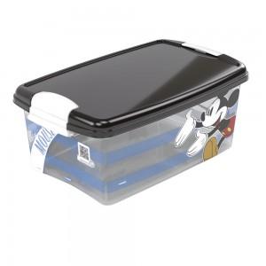 Imagem do produto - Caixa de Plástico Retangular Organizadora 4,2 L com Tampa e Travas Laterais