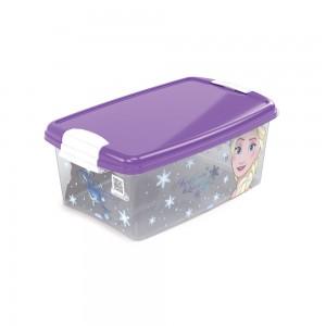 Imagem do produto - Caixa de Plástico Retangular Organizadora 4,2 L com Tampa e Travas Laterais Frozen