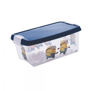 Imagem do produto - Caixa de Plástico Retangular Organizadora 4,2 L com Tampa e Travas Laterais Meu Malvado Favorito