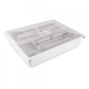 Imagem do produto - Porta Talheres de Plástico com Gaveta e Tampa