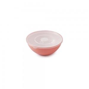 Imagem do produto - Tigela de Plástico 350 ml com Tampa e Válvula Duo 360° Pêssego