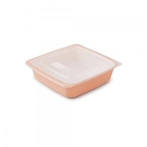 Imagem do produto - Travessa de Plástico Quadrada 1,25 L com Tampa e Válvula Duo 360°  Rosa