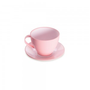 Imagem do produto - Xícara de Plástico de Chá 190 ml com Pires Duo 360°
