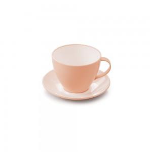 Imagem do produto - Xícara de Plástico de Chá 190 ml com Pires Duo 360° Rosa