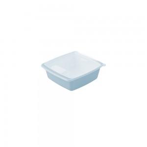 Imagem do produto - Travessa de Plástico Quadrada 400 ml com Tampa e Válvula Duo 360° Azul